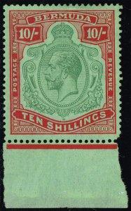 Bermuda #96 King George V; Unused (3Stars)