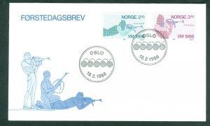 Norway. FDC Cachet 1986 Biathlon  World Championships Scott# 873-874