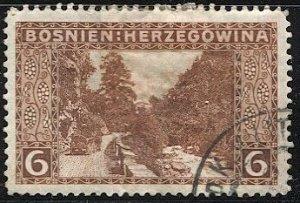 BOSNIA HERZEGOVINA  Austria 1906 Sc 34 Used 6h,  Military Cancel