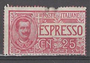 COLLECTION LOT # 4762 ITALY #E1 MH (LIGHT FAULTY) 1903 CV+$47