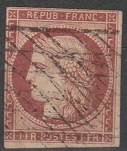 France #9c Fine Used CV $825.00 (D1104)
