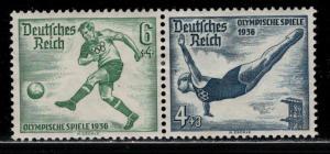 Germany Scott # B84, B83, mint hr, se-tenant, Mi # W105