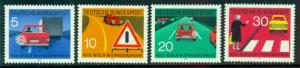 Germany #1059-1062  Mint  VF  NH  Scott $1.40  Traffic Rules
