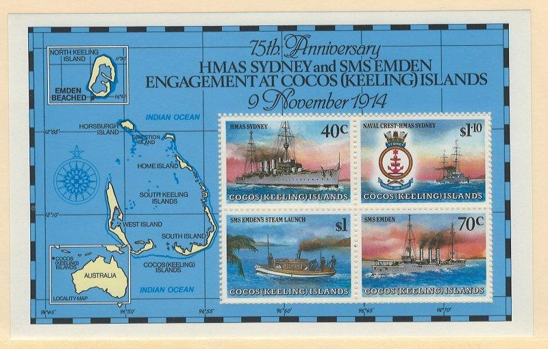 Cocos Islands Scott 210e Souvenir Sheet MNH! Ships!