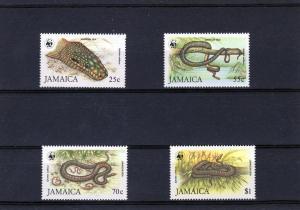 Jamaica 1984 WWF Jamaican Boas Set (4) MNH VF Sc#591/594