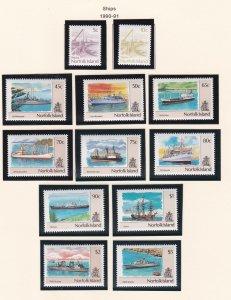 Norfolk Island # 479-490, Ships, NH, 1/2 Cat.