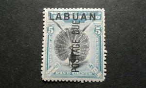 Labuan #J4 mint hinged e206 10043