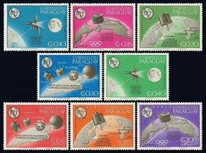 Paraguay 895-902,MNH.ITU-Cent.Satellites Ranger 7,Syncom,Early Bird,Telstar,1965