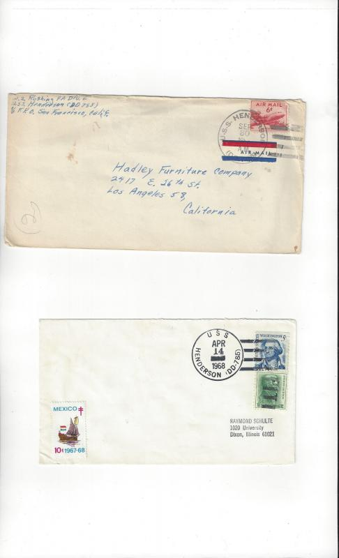 US Navy Covers USS Henderson DD 785