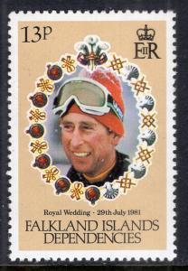 Falkland Islands Dependencies 1L60 MNH VF