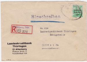 Germany Soviet Zone 1948 Attenburg to Weida  stamps cover  R20729
