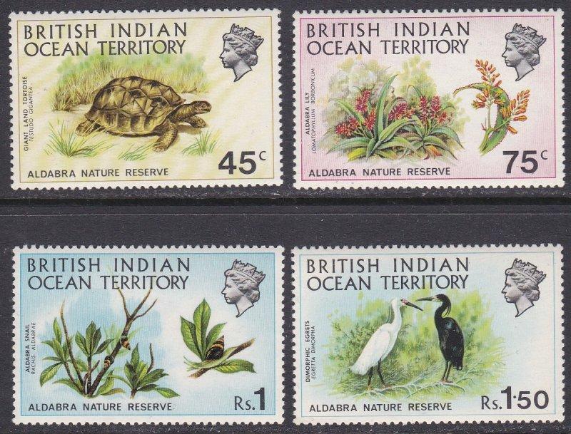 British Indian Ocean Territory Sc #39-42 MNH; Mi #39-42
