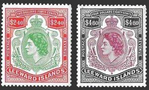 Leeward Islands SC 146-147 - Queen Elizabeth II - MNH - 1954