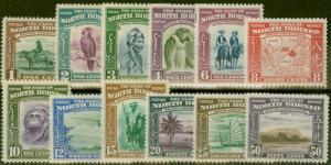 North Borneo 1939 set of 12 to 50c SG303-314 Mtd Mint