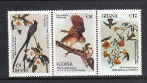 GHANA 980-2 MNH VF Audubon -Birds