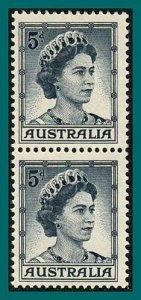 Australia 1959 Queen Elizabeth II, T1 & 2 pair, MNH #319,319a,SG314a