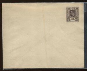 Ceylon KEVII 6 cents brown envelope unused, H & G B34