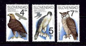 Slovakia 184-86 MNH 1994 Raptors