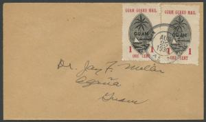 GUAM #M3 GUAM GUARD MAIL ON COVER LOCAL USAGE WITH PF CERT CV $875 HW152