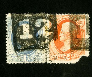 US Stamps Special Cancel Pair LOOK!