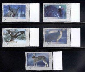 Norway Scott 1467-1471 MNH** Wildlife set