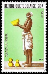 Togo SC 1038 - Native Praying  - MNH -1979