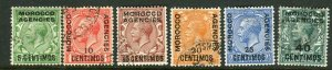MOROCCO AGENCIES-1925-31  A fine used set to 40c on 4d Sg 143-148
