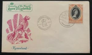 1953 Nyasaland QE 2 Coronation First Day Cover Queen Elizabeth FDC Unaddressed
