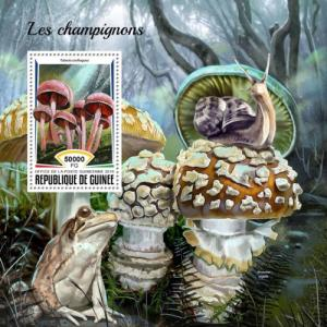 GUINEA - 2018 - Mushrooms - Perf Souv Sheet - MNH