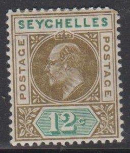 SEYCHELLES - Sc 55 / MINT HR - Edward VII