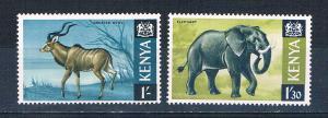 Kenya 29-30 MNH Kudu and Elephant 1966 (K0015)+