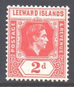 Leeward Is Scott 123 - SG104, 1938 George VI 2d Red MH*