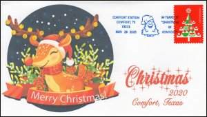 20-276, 2020, Christmas in Comfort, Event Cover, Pictorial Postmark, Comfort TX