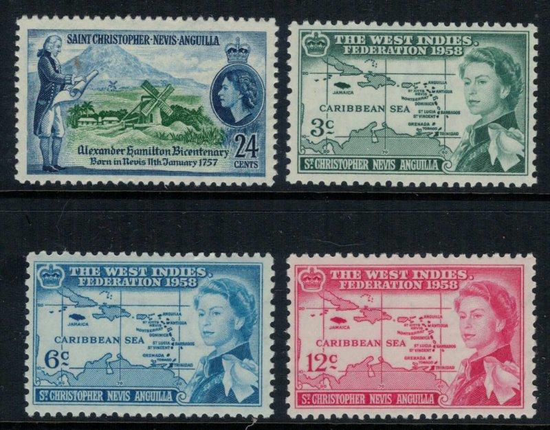 St. Kitts-Nevis #135-8*  CV $3.40