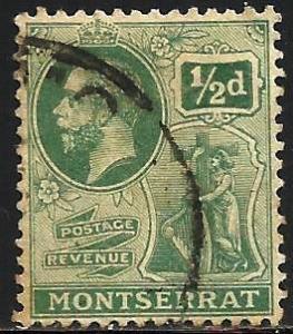 Montserrat 1916 Scott# 43 Wmk 3 Used