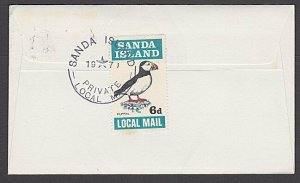GB SCOTLAND 1971 SANDA ISLAND 6d puffin on cover to Dunoon..................B379