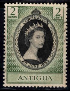 ANTIGUA Scott 106 Used  QE2 Coronation issue