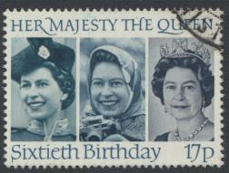Great Britain SG 1317 - Used -QE II 60th Birthday