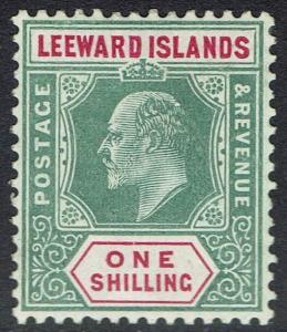 LEEWARD ISLANDS 1905 KEVII KEY TYPE 1/- WMK MULTI CROWN CA