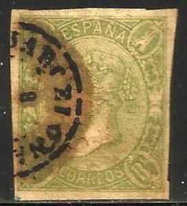 Spain 1865 Scott# 71 Used