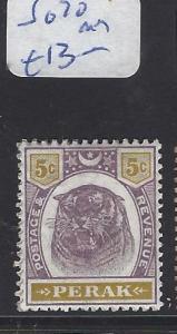 MALAYA PERAK (P1409B)  5C   TIGER SG     70   MOG