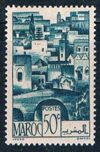 French Morocco 223 MLH The Terraces 1947 (F0138)+