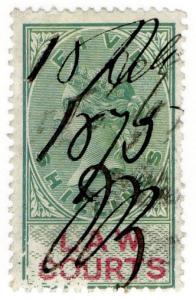 (I.B) QV Revenue : Law Courts (Scotland) 5/- (1873)