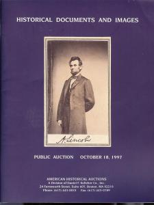 American: Sale # 3  -  Historical Documenets and Images, ...