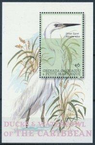 [108784] Gren. Carriacou & Petite Martinique 2001 Bird Great Egret Sheet MNH