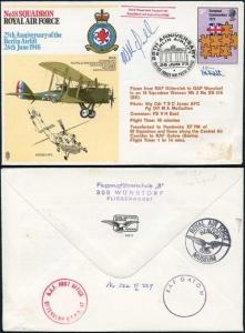 RAF12dB No18 Sqn 25th Ann of Berlin Airlift Crew Signed