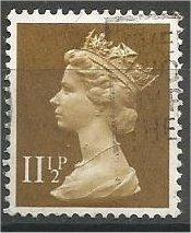 GREAT BRITAIN, Machins, 1979, used 111/2p olive bister, Scott MH75