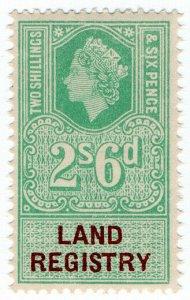 (I.B) Elizabeth II Revenue : Land Registry 2/6d