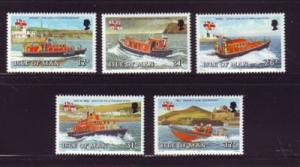 Isle of Man Sc 463-7 1991 Manx Lifeboat stamp set mint NH