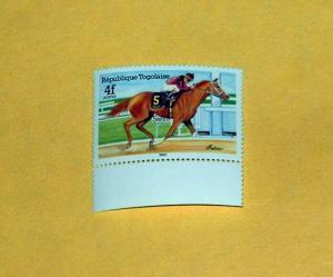 Togo - 1301, MNH - Race Horse, SCV - $0.70